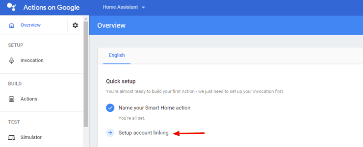Setup Account Linking for the Action