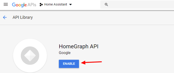 Enable Homegraph API
