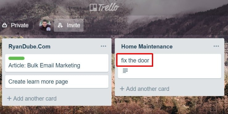 add card to list in trello