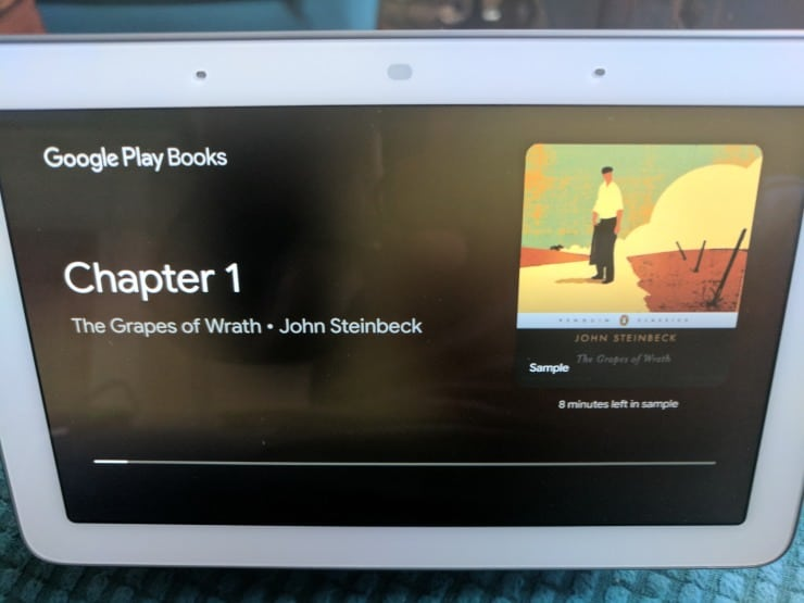 listen to audiobooks on Google Home