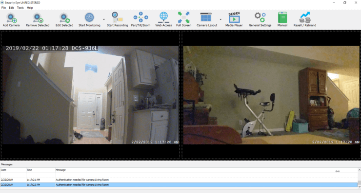 security eye camera viewer