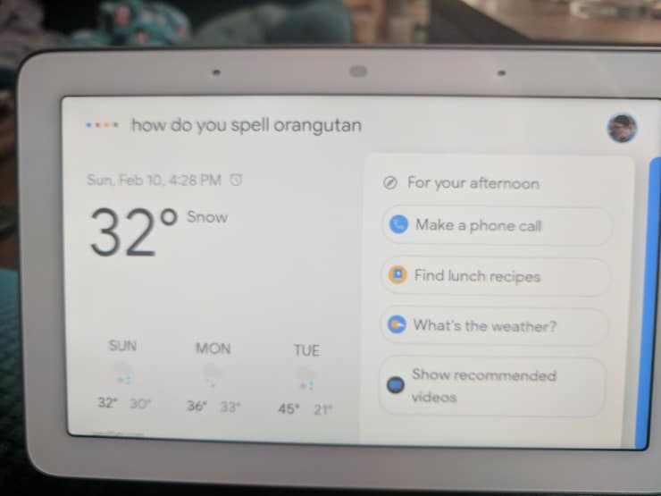 get spelling help from Google assistant