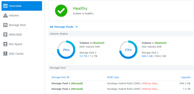 Storage Manager Volumes