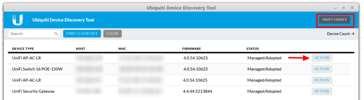Ubiquiti Device Discovery Tool