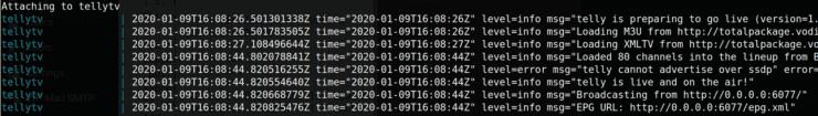 IPTV in Plex - TellyTv Docker Logs