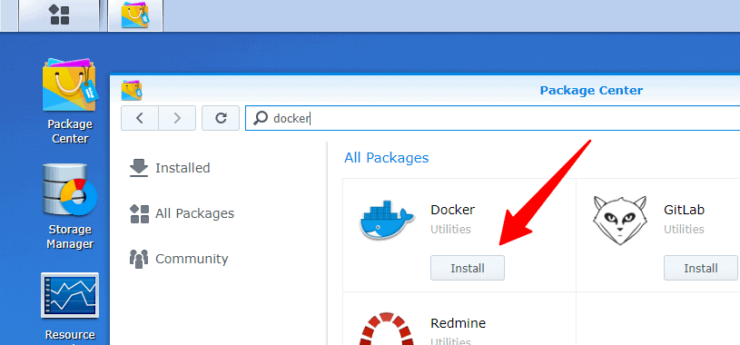 Install Docker on Synology