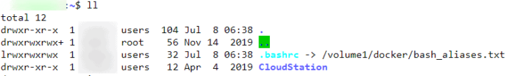 Enable Bash Aliases on Synology Commandline