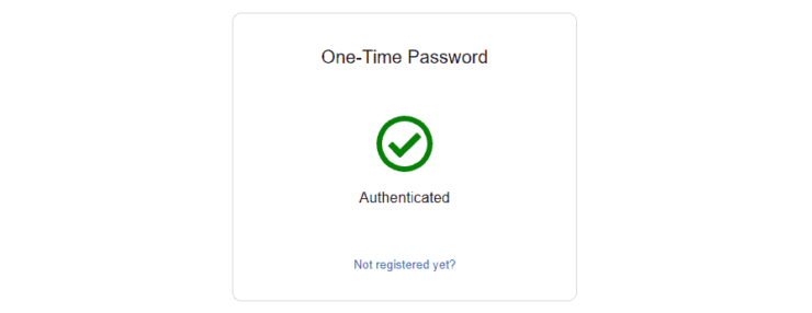 Authelia Successful Authentication with OTP
