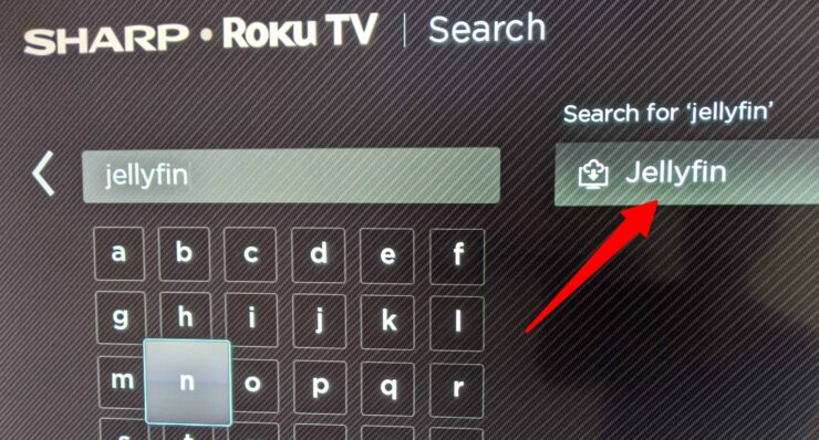 Search Jellyfin Roku App
