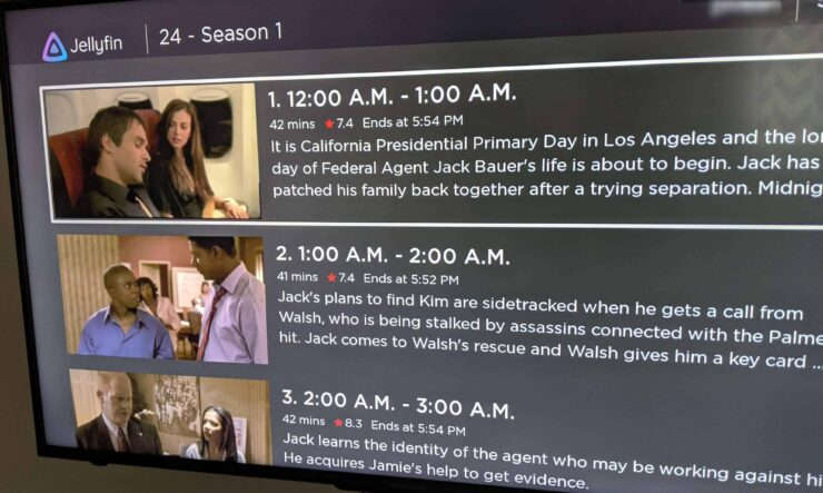 Episodes List Page on Jellyfin for Roku