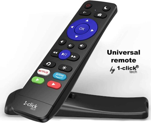 1-clicktech Remote for Roku TV with 4 Shortcuts
