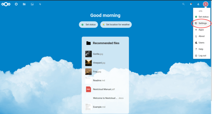 Nextcloud Dashboard