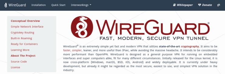 Wireguard homepage