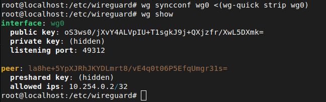 Wireguard Show Command With Client Waiting