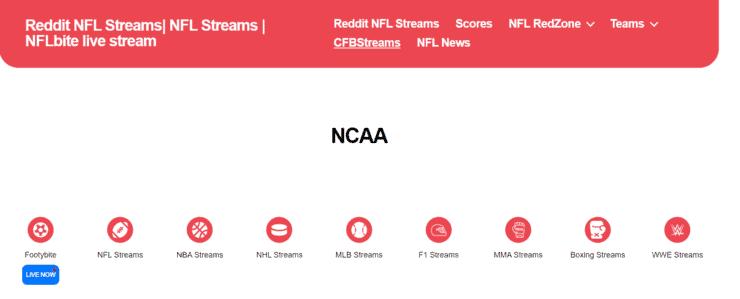 nflbite.com has NCAA Football Streams free