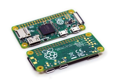 Raspberry Pi Zero Boards, Two Displaying Both Sides